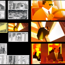 Film animation story boarding eusong lee