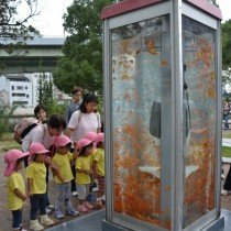 cabine telephonique osaka japon poissons rouges